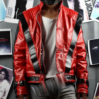 Michael Jackson Thriller Leather Red Jacket Free Billie Jean Gift