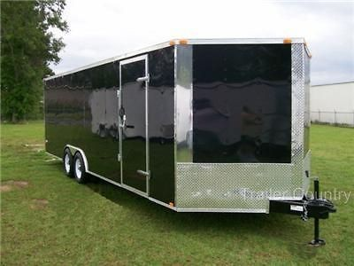NEW 8.5 x 24 8.5X24 Enclosed Cargo Carhauler Race Trailer   NEW 2013