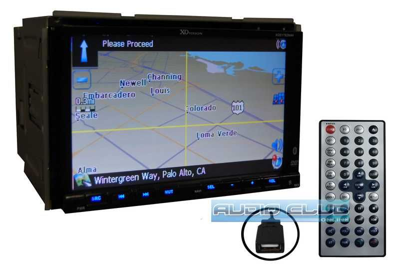 Car Stereo 7 Double DIN DVD Player Navigation 2yr WRNT