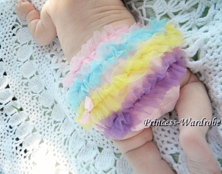 Baby Girl Rainbows Ruffle Pantie Bloomer for Pettiskirt