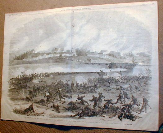 Civil War Newspaper w Engrav Battle of Fredericksburg Virginia