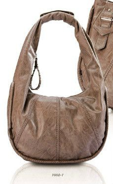 Jacky & Celine Italian Leather Hobo Handbag Style 1002 1 D. Grey 021