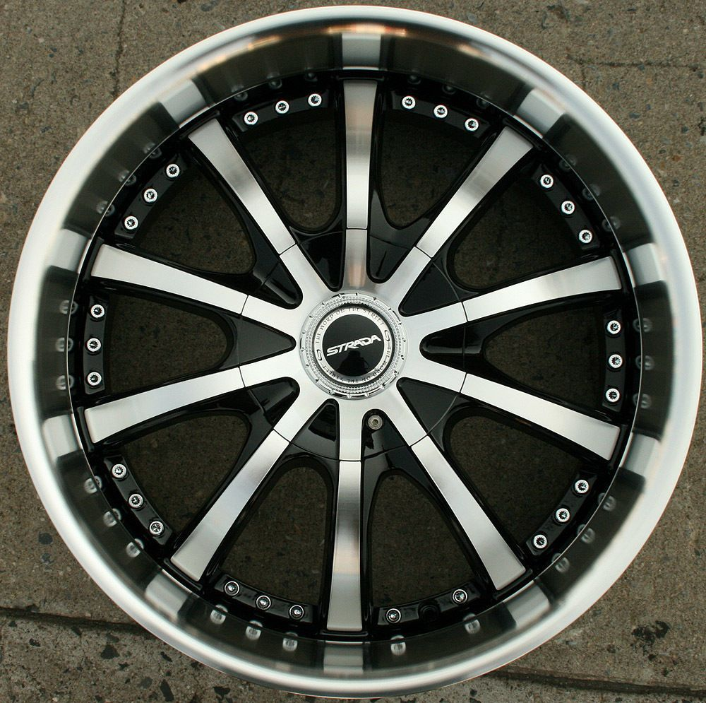 STRADA SOLE 200 20 BLACK RIMS WHEELS JAGUAR X Type X TYPE / 20 X 8.5