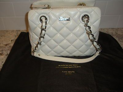 NWT KATE SPADE ELIZABETH GOLD COAST CLOTTED CREAM QUILTED WOMENS HAND