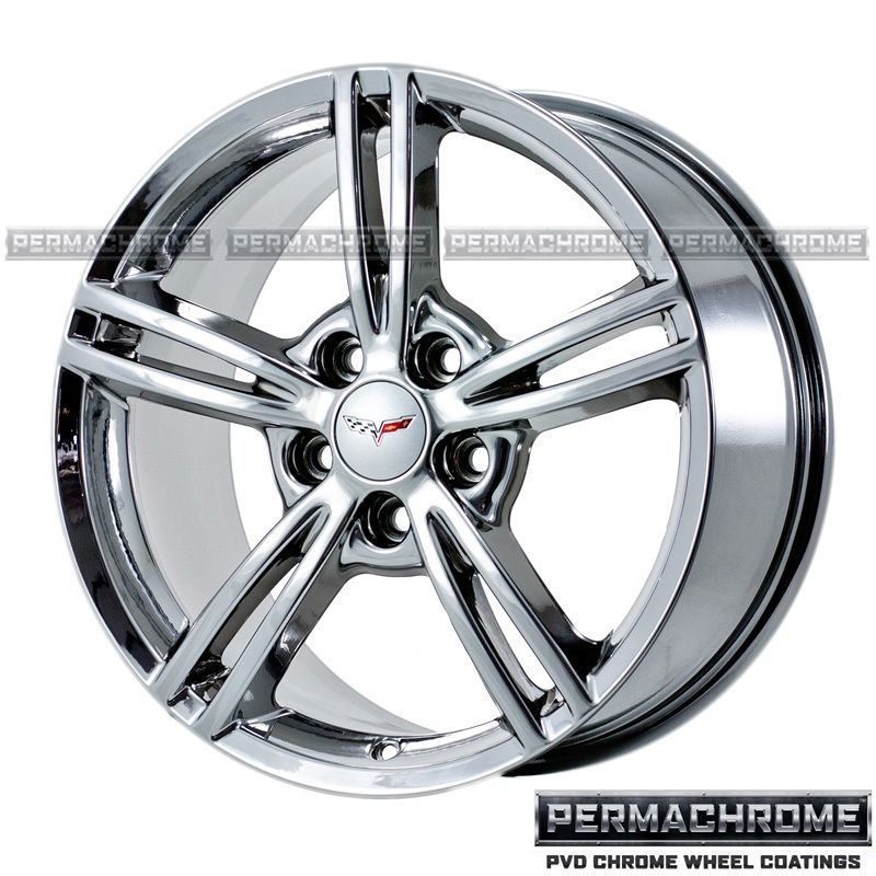 Corvette 18 19 PVD Chrome Wheels 5338 43 Outright