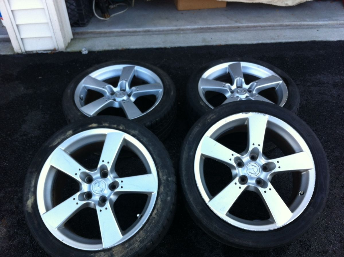 Set of 4 Mazda RX8 Wheels Tires Rims 5x114 3 18